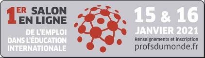 Salon en ligne de l'emploi éducation internationale